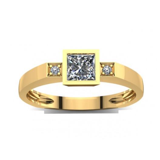 Złoty pierścionek zaręczynowy z cyrkoniami PZ-025C