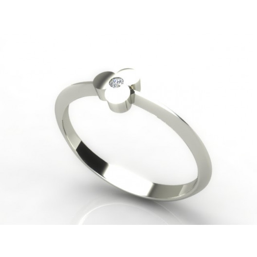 Złoty pierścionek z cyrkonią PZBC-080