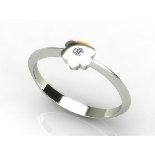 Złoty pierścionek z brylantem 0,015ct PZB-214