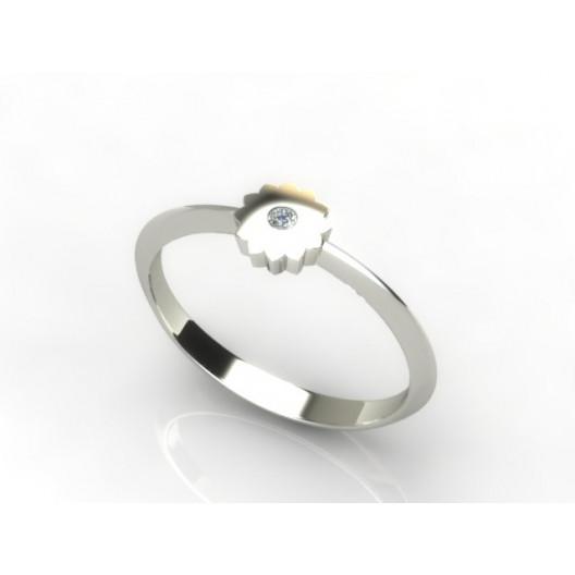 Złoty pierścionek z brylantem 0,015ct PZB-215