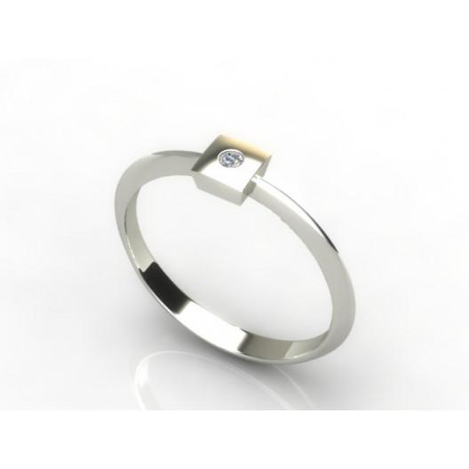 Złoty pierścionek z brylantem 0,015ct PZB-216