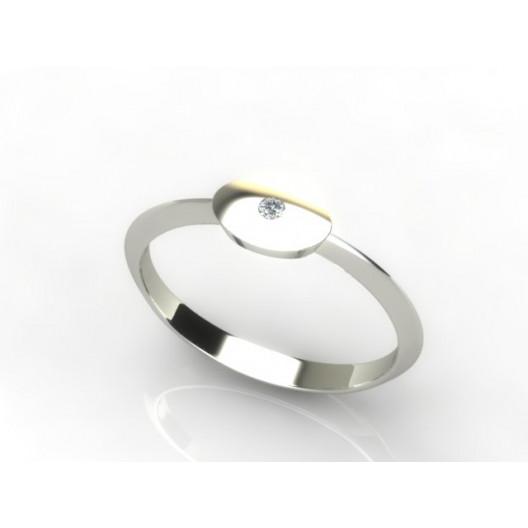 Złoty pierścionek z brylantem 0,015ct PZB-217